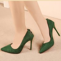 Wholesale Sexy Colorful Wedges - 2015 Factory Discount Sexy Casual High Heels Pointed toe Platform Pumps Solid Dress Shoes For Women Sweet Colorful Party Pumps