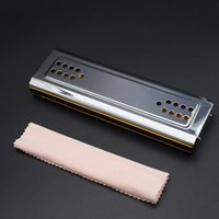 Wholesale Dural Key of C G Double Holes Tremolo Harmonica Mouth Organ Wind Instrument with Box Clean Cloth Top Quality