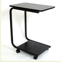 Wholesale Cheap Four Pulley Desk High Quality Desk Wood Material U Sharp Design for Sale EB DJ15564