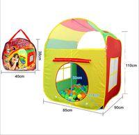 El tamaño grande de juguete niños Tiendas para jardín al aire libre plegable de la tienda portable de juguete Pop Up multicolor Casa regalo de los niños Independiente