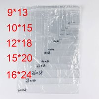 PE Bolsas de plástico transparente Zip cerraduras Ziplock Zipper Poly OPP autoadhesivo sello embalaje Empaquetado para la venta al por menor reciclable 7C pequeño medio