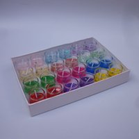 Wholesale 8 scented candles romantic ocean color jelly glass candle birthday gift loaded