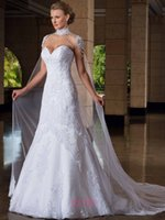 Trumpet/Mermaid 2014 Sheer Bridal Jacket - 2014 Sexy Mermaid Wedding Dresses High Neck Cap Sleeve Appliques Lace White Crystal Beading Sweep Train Bridal Gowns lt117 With Jacket Cape
