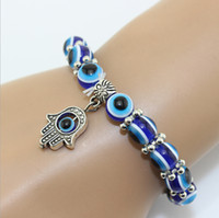 bead outlets - Hamsa retro eye beads charm bracelet Valentine s Day jewelry Wedding bracelet Hand woven bead bracelet sale outlets M