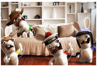 best decorated bedrooms - Diy home decoration wall stick decorate room cartoon rabbids rabbit poster wall stickers best gift x75cm poster