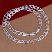 Wholesale Fashion Men s Jewelry sterling silver plated MM inches chain necklace Top quality