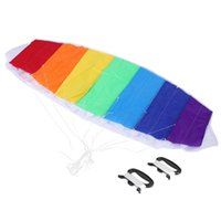 beach stunts - M Power Dual Line Stunt Parafoil Parachute Rainbow Sports Outdoor Beach Kite