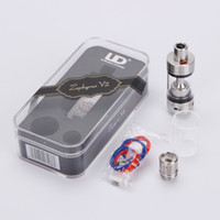 Replaceable 6.0ml Glass Authentic Original youde zephyrus v2 sub ohm tank Herakles Filliing 6.0ml Tank wholesale Atomizer 510 with RBA Coil Head For Mod 010158