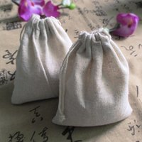 Wholesale 8 cm Jute Drawstring Storage Bag Grocery Gift Packaging Bag for storage Wedding Decor