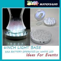Wholesale Bright led bulbs Wedding backdrop deft design light base Round under vase light