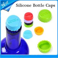 Wholesale Colorful Silicone Bottle Cap Wine Cap Silicone Beer Wine Savers Creative Home silicone candy colored beer bottle cap