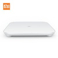 Wholesale 100 Original Xiaomi Scale Mi Smart Body Weight Digital Scale Support Android IOS Bluetooth Above Smartphone White Color order lt no