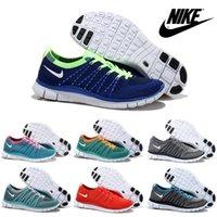 Wholesale Nike Free Flyknit Men s Running Shoes Original Walking Shoes Breathable Lightweight Jogging Shoes Weaving Sport Shoes Free Shi
