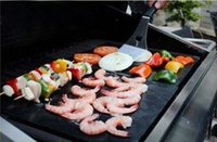 Wholesale New pc X33CM Non Stick PTFE BBQ Liners Oven Liner Grill Foil Barbecue Liner Reusable Teflon Cooking Sheet gi871836