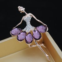 Wholesale Korean jewelry lady love ballet girls fashion style brooch manufacturers custom can retail good quality