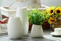 Wholesale New Retro White Ceramic Milk Bottles Flower Vase Ceramic Vase Home Decoration