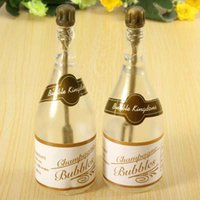 baby blowing bubbles - 24 Romantic Winebottle Wedding Party Empty Bottle Bubble Blowing Soap Toy For Baby Shower Decor