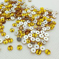 Wholesale 288pcs mm Round Shape Sew On Stone Topaz Gold Yellow Color XILION Lochrose ss20 Sew On rhinestone with One Hole