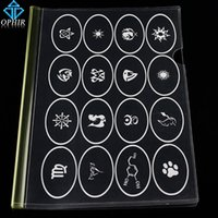 Wholesale OPHIR Reusable Airbrush Temporary Tattoo Stencil for Body Paint Stencil Designs Art Template _TA095