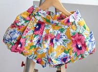Wholesale Hu sunshine New summer babys girls floral dots printed shorts