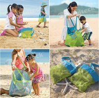 Wholesale Beach Mesh Bags Sand Away Collection Toy Bag Storage For Sea Shell Kids Children Tote Organizer Mommy s Helper Free DHL Facotoy Direct
