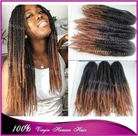Wholesale Cheap price quot black brown two tone color kanekalon marley braid ombre twists marley hair extension