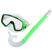 Wholesale New Arrival PVC Swimming Scuba Anti Fog Goggles Mask Snorkel Set