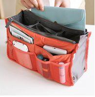 Wholesale DHL SF FedEx colors Bag in Bag Dual Insert Multi function Handbag Makeup Pocket Organizer Purse