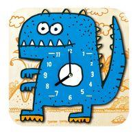 Wholesale 3D Cartoon Clock Children Jigsaw Puzzle Assembled Wooden Wall Clock Creative Cartoon Series