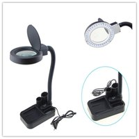 Wholesale New Magnifying Crafts Glass Desk Lamp With X X Magnifier LED Lighting