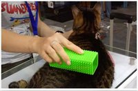 Wholesale Cat brush removal silicone adhesive Pet cat hair stick hair suction device floating hair Brushes Combs DHL