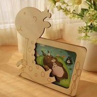 ECO Friendly small picture frame - DIY Photo Frame Deer pattern Magic wood Wooden children baby small cartoon photo frame Picture frame gift fashion simple style freehshipping