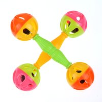 Wholesale Brand Baby Toys Baby kids Rattle Bells Shaking Dumbells Early Development Toys Months New