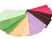 Wholesale 500pcs CM Thicked Superfine fiber towel Microfiber Hand Face Dry hair bulk beach towels