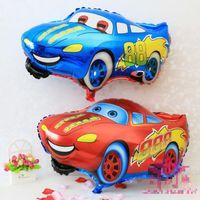 balloon car toy - Red Blue Car Foil Balloon Cartoon Cars Inflatable Foil Balloons Wedding Or Birthday Decoration Toy Globos Halloween