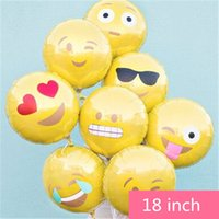 adult party balloons - 18 inch emoji balloon emoji toy kids adult toy bunch balloon birthday party decoration