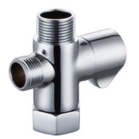 Wholesale KES K1018 Solid Brass T adapter with Shut off Valve way Tee Connector for Bidet Hand Sprayer Polished Chrome