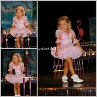 Reference Images Girl Beads Shining 2014 Pink Little Kids Pageant Dress Beaded Crystals Short Sleeves Ball Gown Mini Girl Dress for pageant
