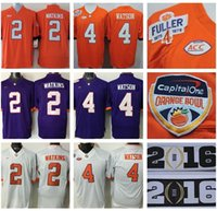b tiger - Factory Outlet Orange Bowl Clemson Tigers Jerseys College Deshaun Watson Football Jerseys Purple Orange White Sammy Watkins Tajh B