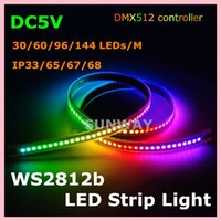 waterproof led lights - 5M pixels waterproof digital LED strip lights WS2812B built in IC SMD individually addressable RGB full color LED strip V