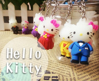 best christmas ornament - New Arrival Hello Kitty Cartoon Keychain Ornament PVC D Key Chains Ring Wedding Christmas Best Gift For Kids Women Men