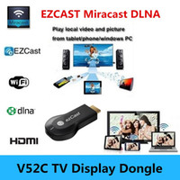 Wholesale Newest Vsmart V52C TV Stick EZCast Miracast dongle dlna wifi display airplay for Iphone s android OS better than Chromecast