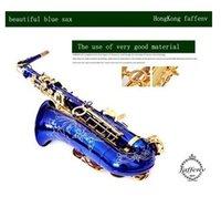 alto saxophone blue - EMS France and Hongkong brand cooperation TIP TOP FAFFENV the perfect blue saxophone Sax E alto saxophone