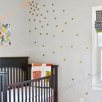arts variety - Variety of sizes Gold Vinyl Wall Sticker Decal Art Polka Dots Gold Polka Dots for nursery wall