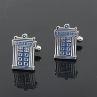 Wholesale High Quality Doctor Who Cufflink French Cufflinks Father s Day Gift For Men Jewelry Designer Cuff Links C188