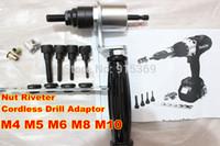 Wholesale Electric Rivet nut Gun M4 M5 M6 M8 M10 Cordless Nut Riveter Drill Adapter rivet nut tool electric battery nut riveter