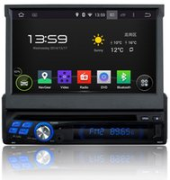 Wholesale Quad Core Android HD din quot Universal Car audio Car dvd gps With Car PC G WIFI Radio Bluetooth IPOD TV DVR Built in GB