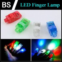 Wholesale LED Finger lamp Finger Ring Lights Glow Laser Finger Beams Party Flash Finger lights Kid Toys Colors Christmas Gift