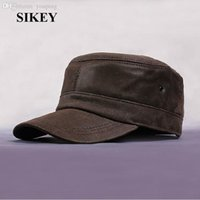 Wholesale HL039 New lambskin sheep skin in Russia leather Grin suede genuine hat baseball