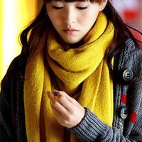 beige tabby - Vogue New Korea Solid Color Lengthen Lovers Tabby Warm Woollen Scarf Winter Girl Protect Neck Thermal
